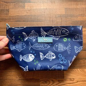 Scout Crown Jewels One Fish Blue Fish Makeup Bag